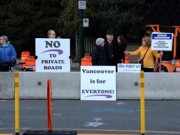 Point Grey Road Protest