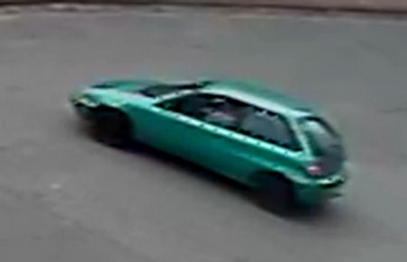 A possible suspect vehicle after an acid attack in Surrey in September, 2013