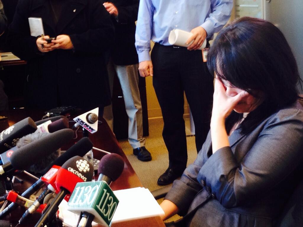 Jenny Kwan makes an emotional address to the media (March 21/14)