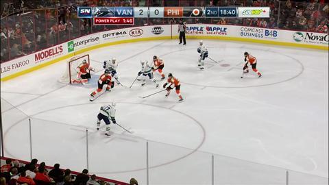 H. Sedin, power play lead Canucks to blank Flyers