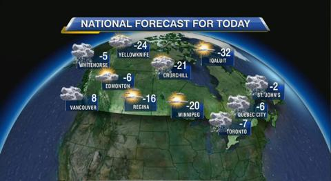 Russ Lacate's Monday forecast