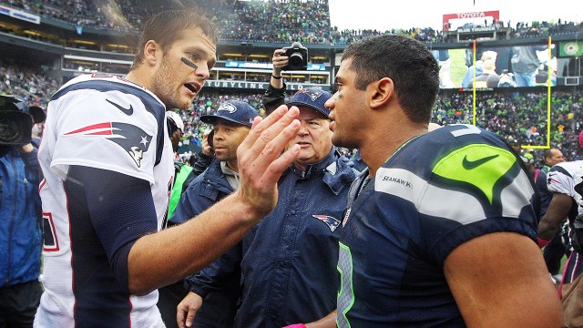 Will Russell Wilson or Tom Brady hoist the Vince Lombardi Trophy?