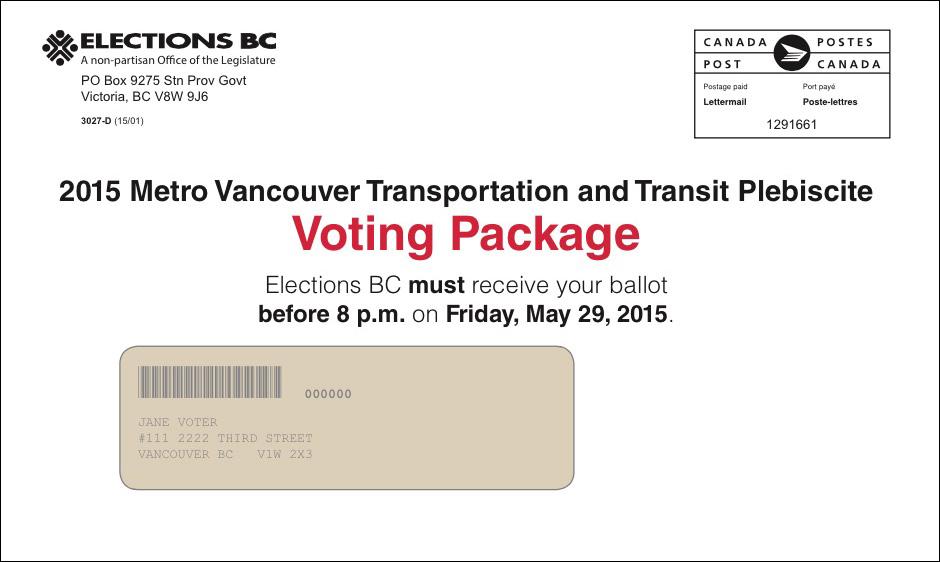 transportation vote plebiscite ballot elections bc