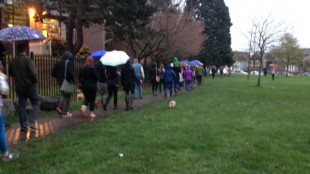 Community marches for Strathcona  victim (News1130 photo)