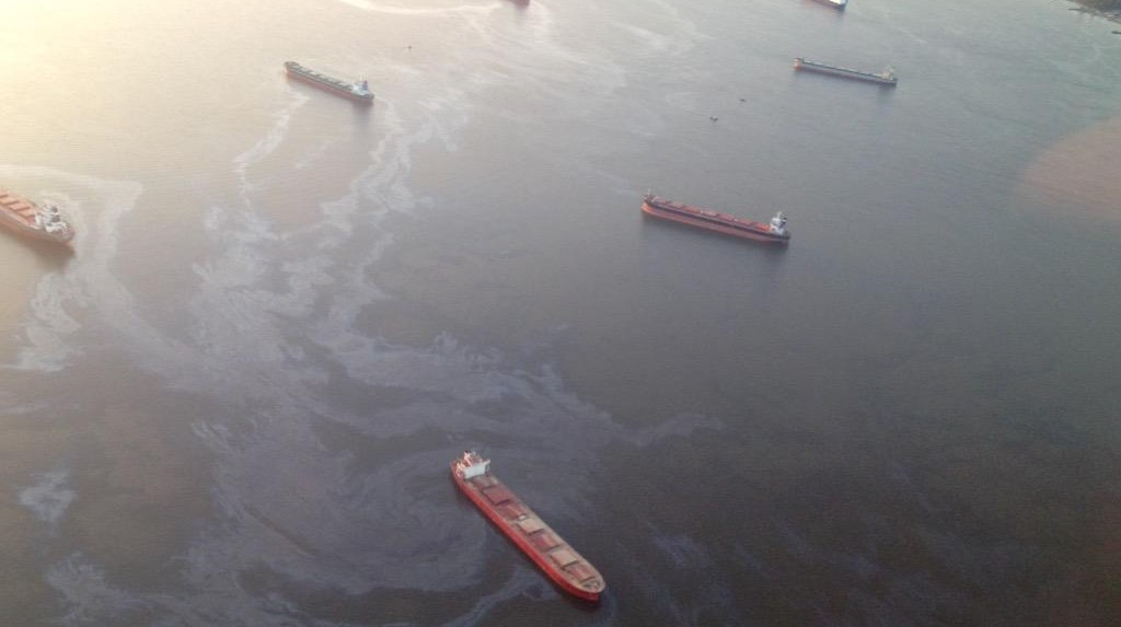 Fuel spill in English Bay (April 9/15)