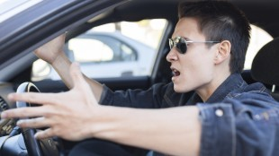 angry driver road rage