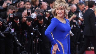 Actress Jane Fonda poses for photographers upon arrival for the screening of the film The Sea of Trees at the 68th international film festival, Cannes, southern France, Saturday, May 16, 2015.(AP Photo/Thibault Camus)