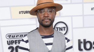 """FILE - In this May 13, 2015 file photo, actor Taye Diggs attends the Turner Network 2015 Upfront at Madison Square Garden in New York. Producers of the Tony-Winning show said Monday, May 18, that """"How Stella Got Her Groove Back"""" star will take over the title role in Broadway's """"Hedwig and the Angry Inch"""" starting July 22. (Photo by Evan Agostini/Invision/AP, File)"""
