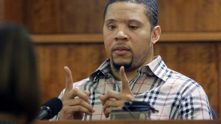 FILE - In this April 1, 2015 file photo, prosecution witness Alexander Bradley testifies at Bristol County Superior Court in Fall River, Mass., during the murder trial of New England Patriots NFL football player Aaron Hernandez. Hernandez was convicted of murdering Odin Lloyd. Hernandez was arraigned Thursday, May 21, 2015, in Boston on a charge of trying to silence Bradley, a witness in a separate double murder case against him, by shooting him in the face. (AP Photo/Brian Snyder, Pool, FIle)