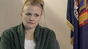 """FILE - Pamela Smart is seen in this file image taken from video courtesy of WMUR television of Manchester, N.H. at the corrections facility in Bedford Hills, N.Y. Joyce Maynard, whose book """"To Die For"""" was inspired by the Pamela Smart case is asking Gov. Maggie Hassan that Smart, sentenced to life for being an accomplice to the murder of her husband, be considered for parole. Smart is serving life without parole after being convicted of plotting the 1990 murder of Gregory Smart. She denied planning her husband's murder. (WMUR Television via AP, File)"""