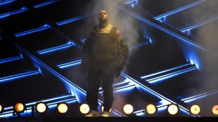 FILE - In this Sunday, May 17, 2015 file photo, Kanye West performs at the Billboard Music Awards at the MGM Grand Garden Arena in Las Vegas. West is bringing his talents to Atlanta's most popular hip-hop concert shows. WHTA, known locally as Hot 107.9, announced Wednesday, May 27, 2015, that West will be one of the headliners at Birthday Bash 20 at Philips Arena on June 20. (Photo by Chris Pizzello/Invision/AP, File)