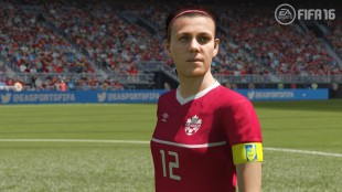 """Christine Sinclair appears in """"FIFA 16"""" from EA Sports in this undated screen image. Canadian captain Christine Sinclair is finally in the game. EA Sports says """"FIFA 16,"""" the new version of its soccer video game, will feature 12 women's national teams for the first time in the 22-year history of the franchise. THE CANADIAN PRESS/HO - EA Sports"""