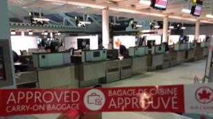 An Air Canada carry-on tag