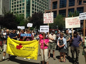 Bill C-51 protest in Vancouver, May 30th 2015.