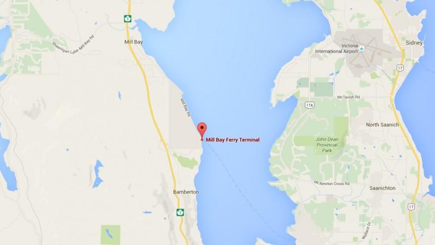 Car Speeds Through Fence Sinks Near Vancouver Island