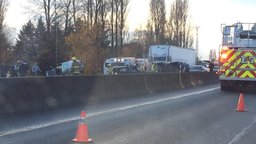 Highway 99 northbound blocked in Richmond