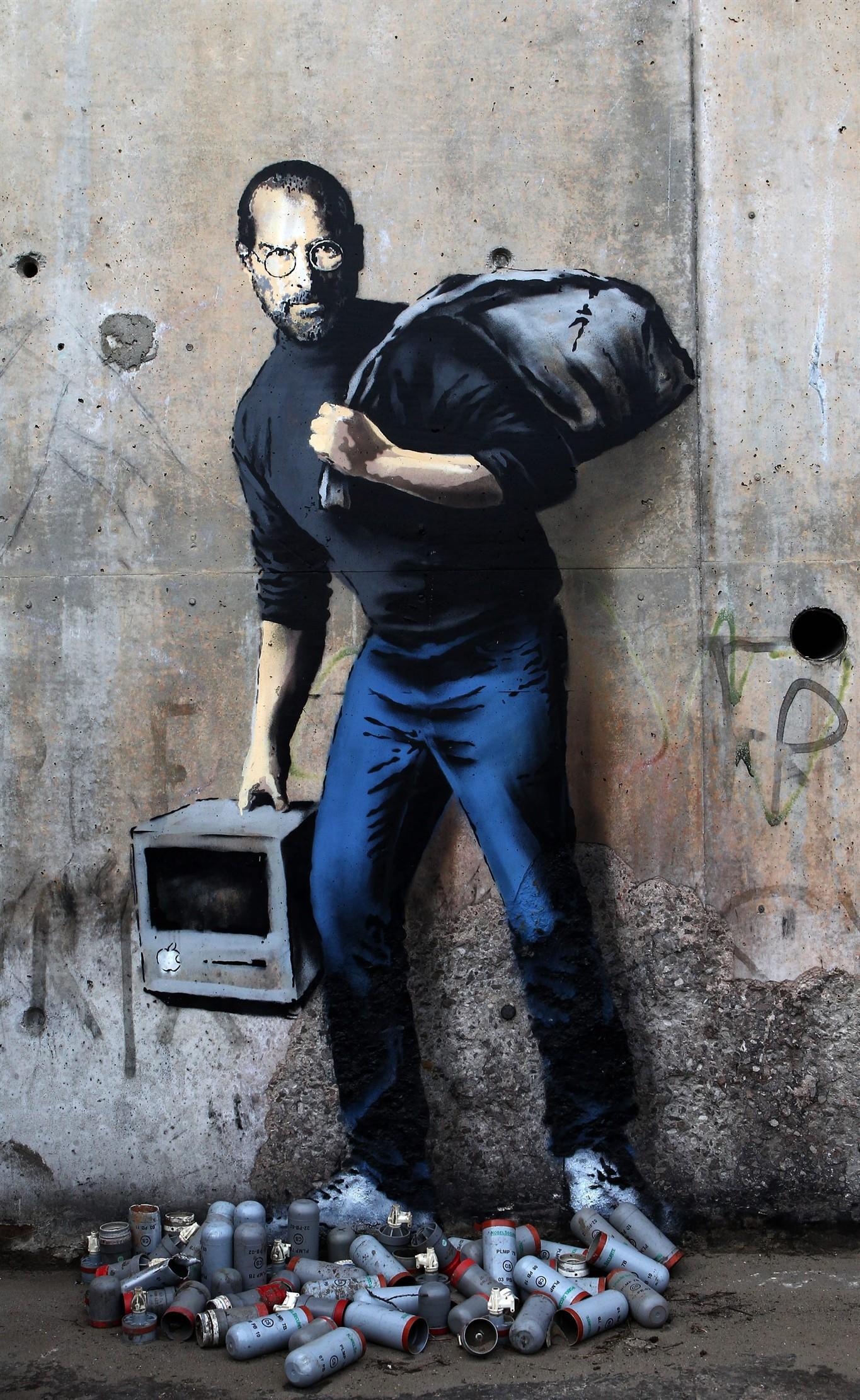 Banksy Steve Jobs Painting