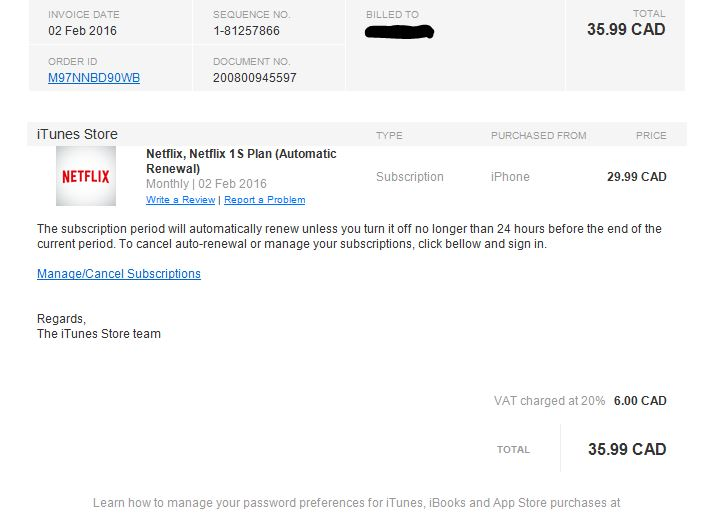 how to check itunes bill