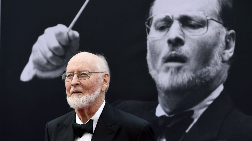 John Williams greets Star Wars musicians outside home