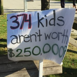 Richmond school closure protest (Sept 2016)