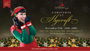 Christmas at Hycroft – A Vancouver tradition for over 40 years! @ Hycroft    Vancouver   British Columbia   Canada