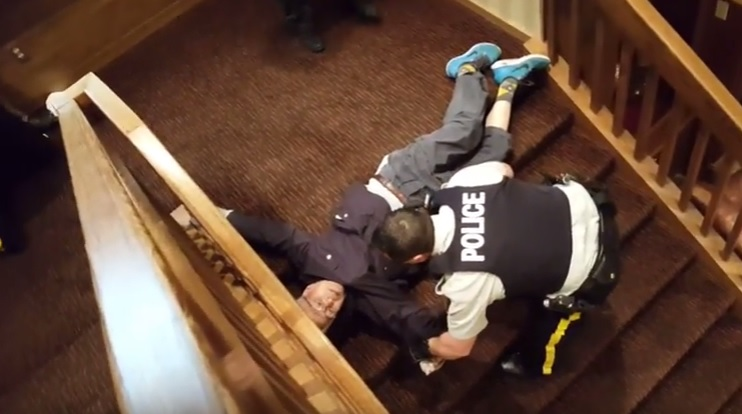 RCMP reviewing arrest of an elderly BC couple caught on video