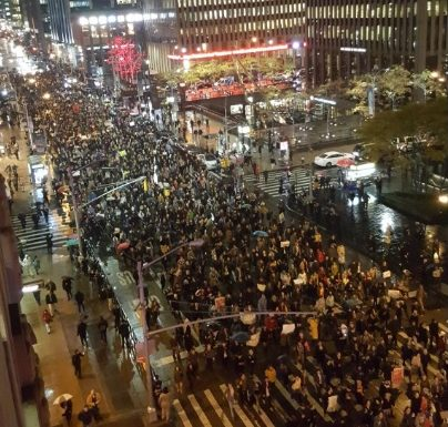 Image result for anti trump protesters burn american flag