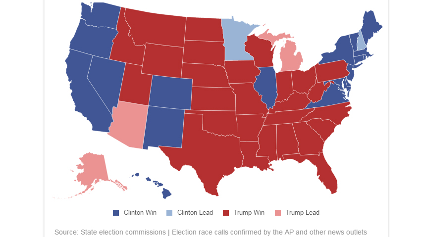 Us election live map