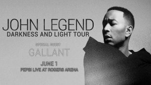 John Legend: Darkness & Light Tour with guest Gallant @ Rogers Arena | Vancouver | British Columbia | Canada