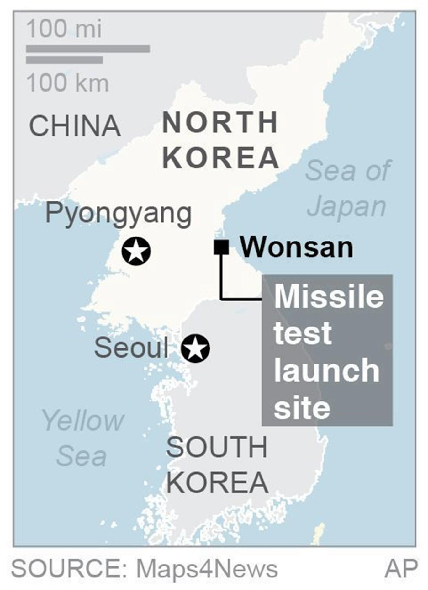 Us South Korea Say North Korea S Latest Missile Test Fails