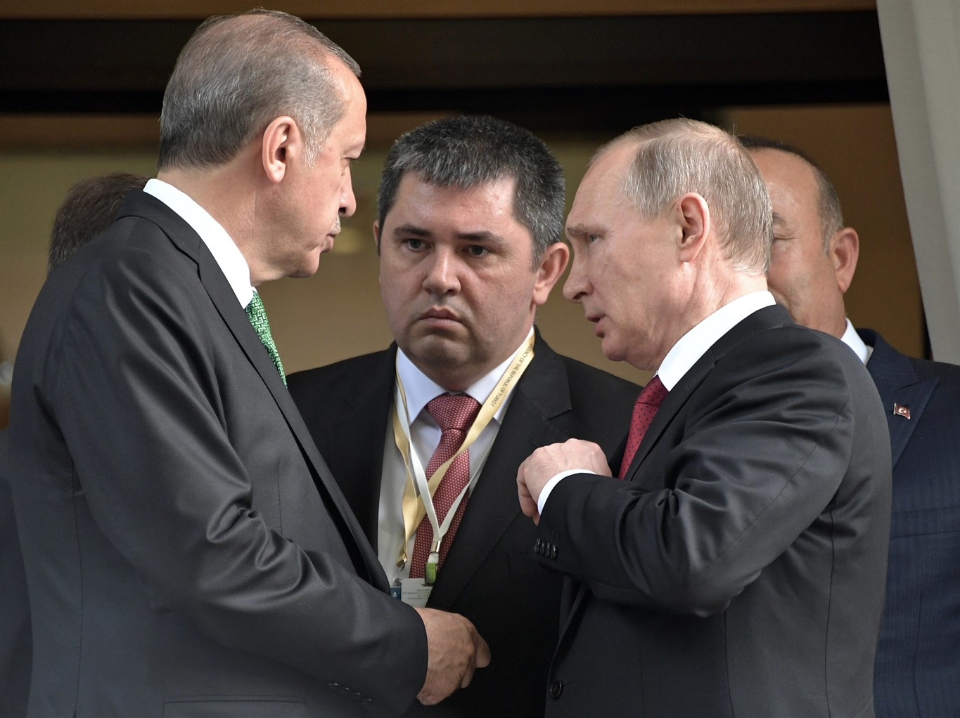 Russia iran turkey sign on de escalation zones in syria news 1130 turkish president recep tayyip erdogan left speaks to russian president vladimir putin right as he leaves after their meeting in putins residence in kristyandbryce Images