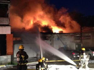 Flames in Kerrisdale
