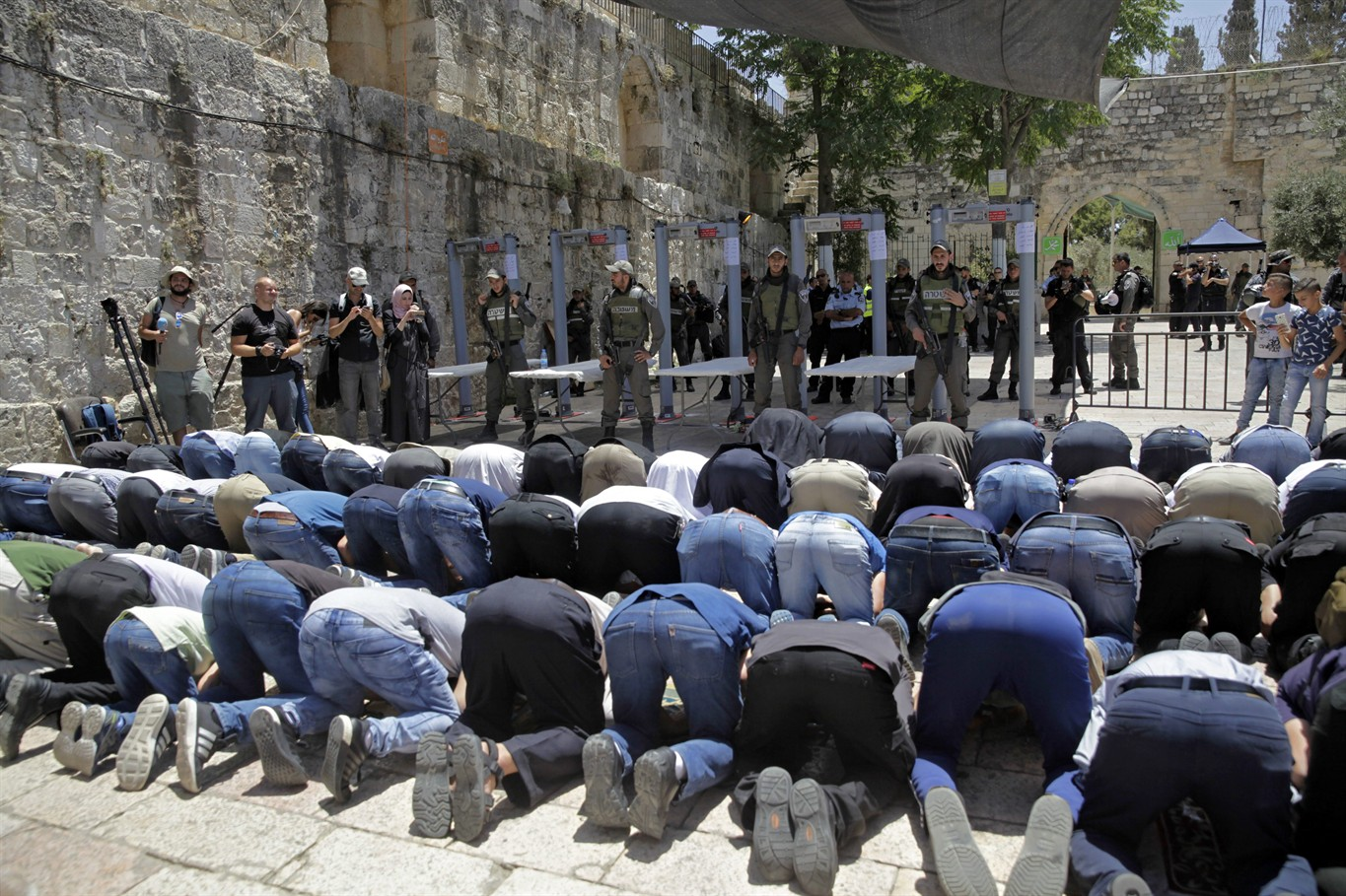Image result for Israel reopens Jerusalem's Noble Sanctuary after deadly shooting