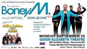 BONEY M w/ Special Guests ABRA Cadabra - a tribute to ABBA @ Queen Elizabeth Theatre | Vancouver | British Columbia | Canada