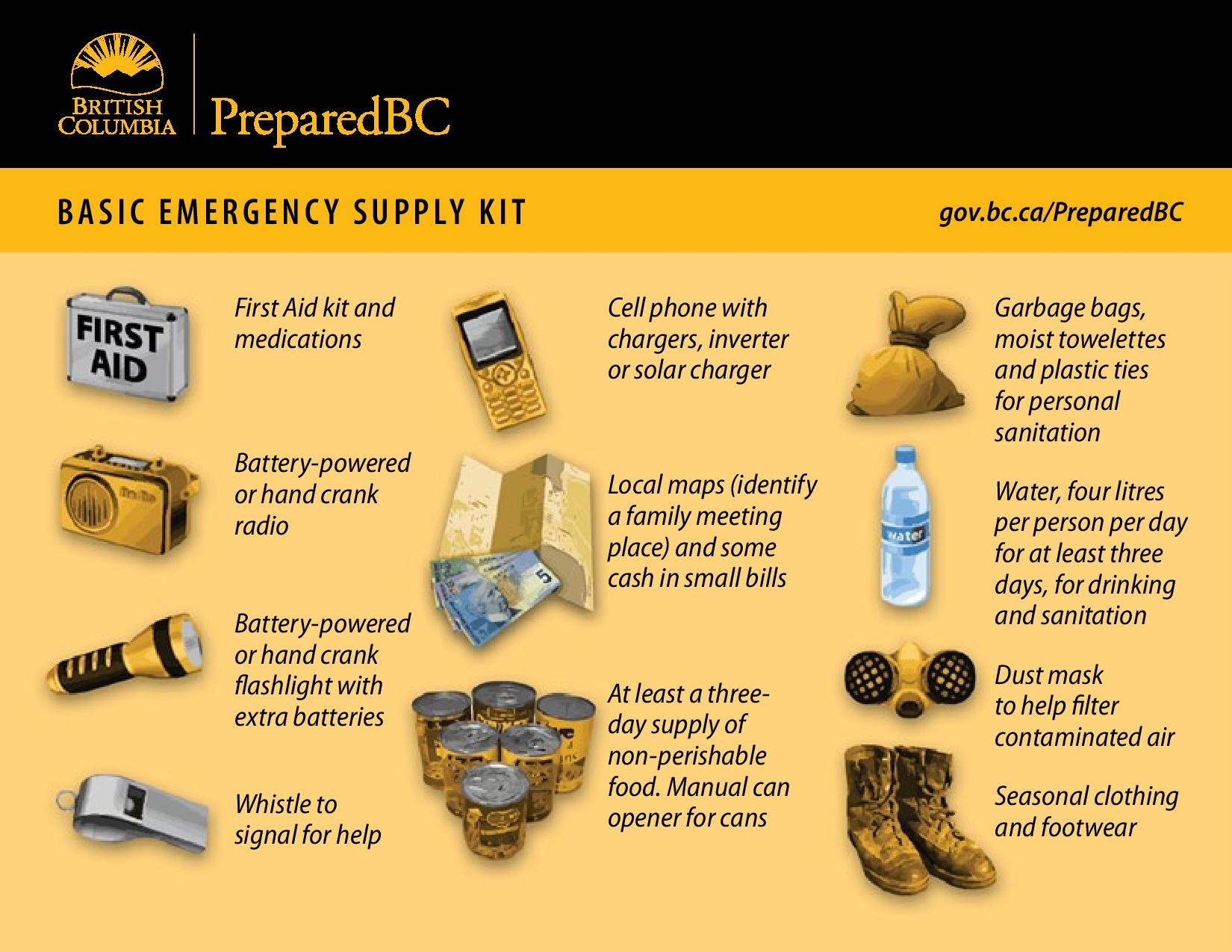 What should you include in an emergency kit in case of a disaster solutioingenieria Image collections