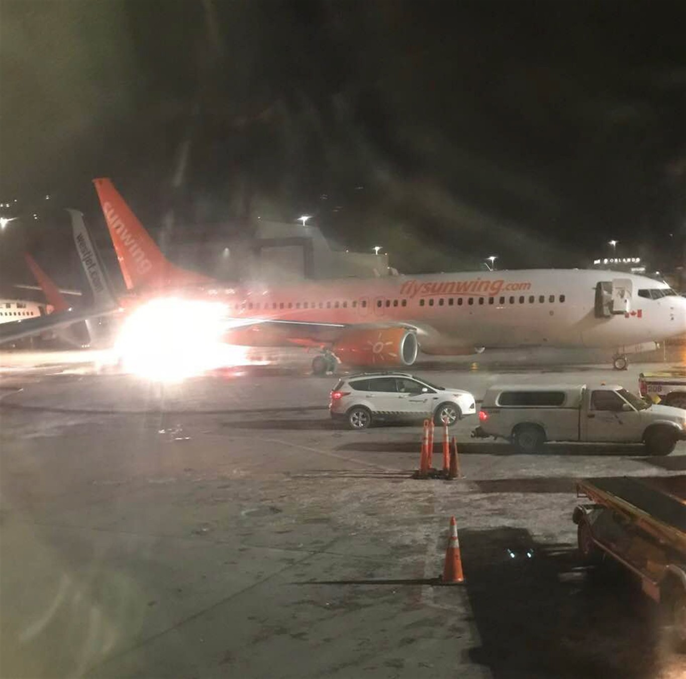 A crunch, a fire, and panic: planes collide at Toronto airport