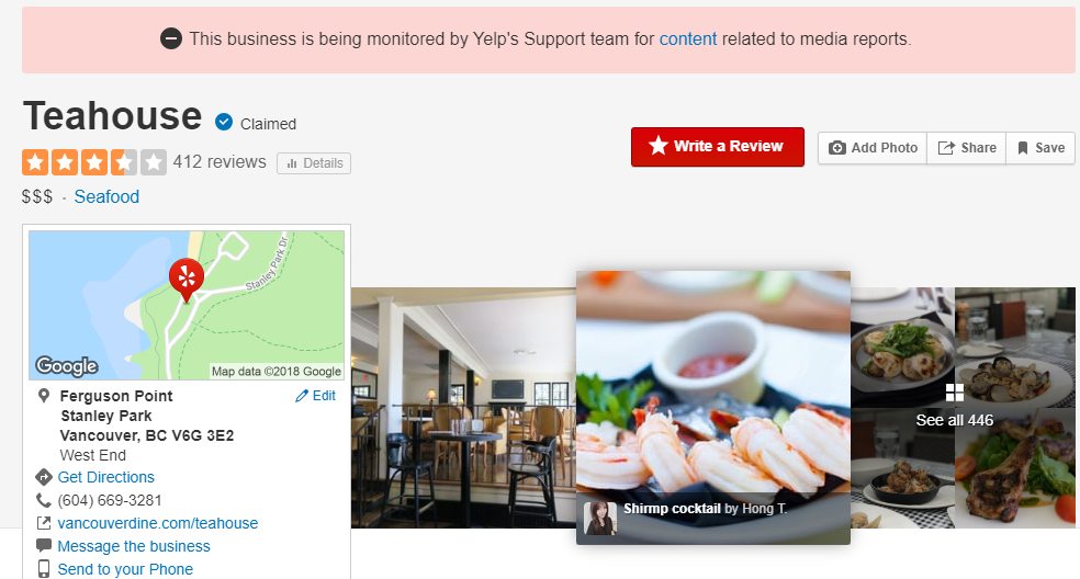 Vancouver restaurant faces backlash on Yelp after manager