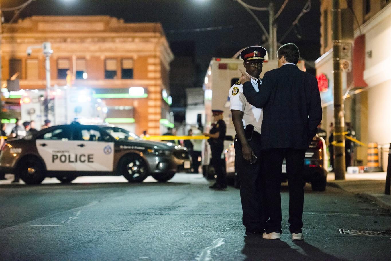 Chilling Video Shows Toronto Gunman, In Black, Firing Shots