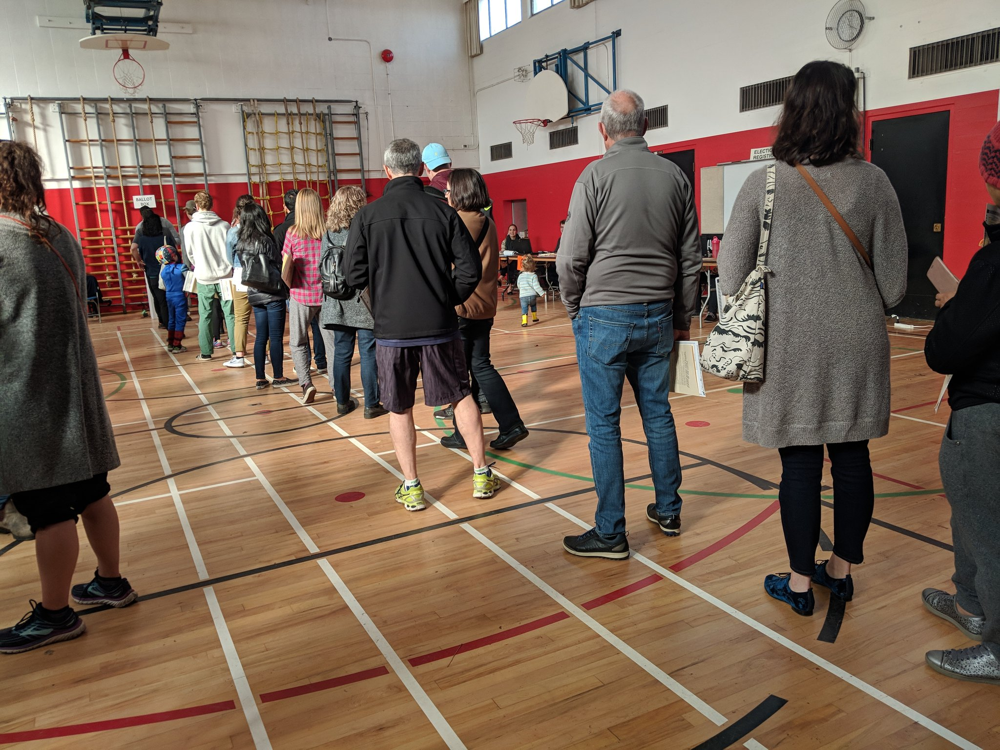 Some voters walk away from polls because of long lines
