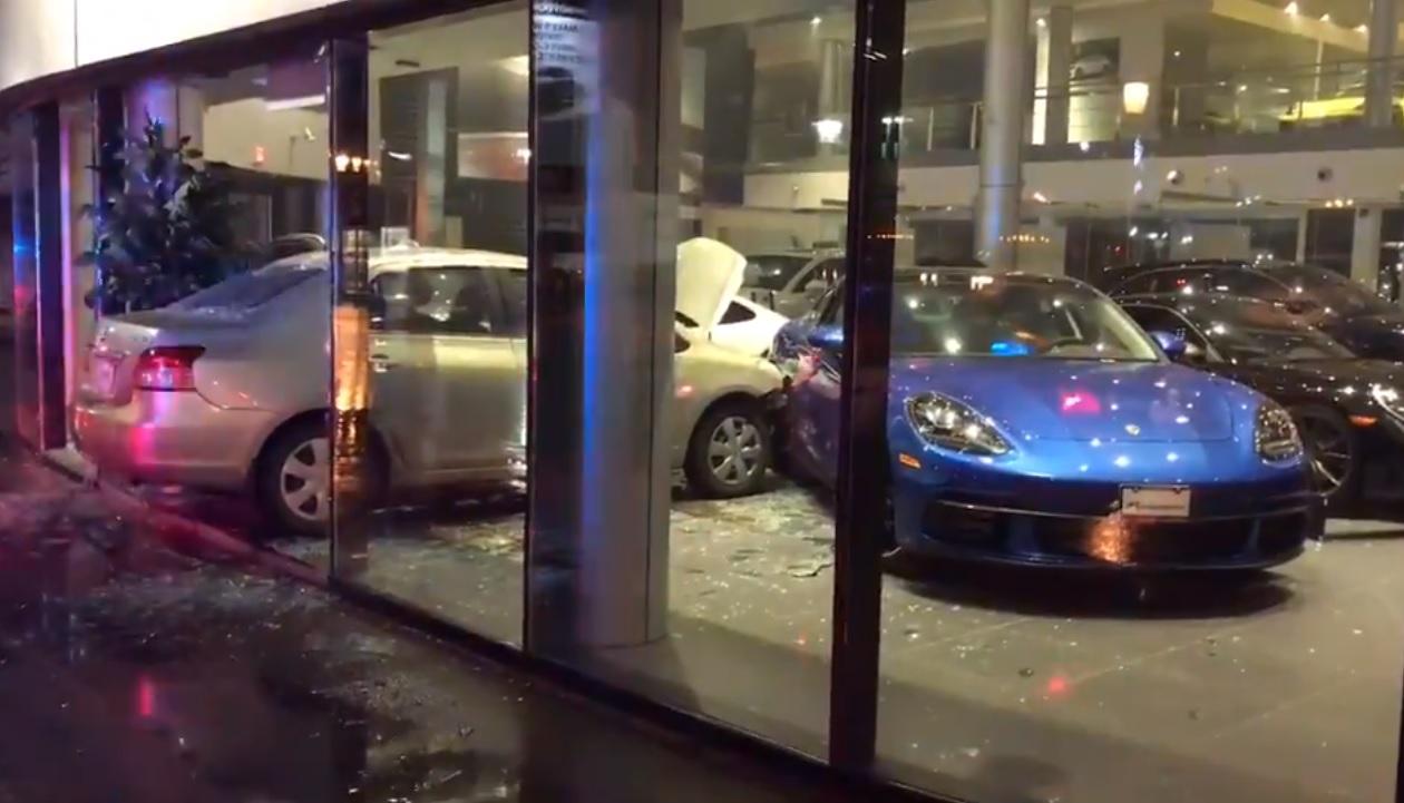 Car Dealers Toronto >> Driver Arrested After Crashing Into Toronto Porsche Dealership