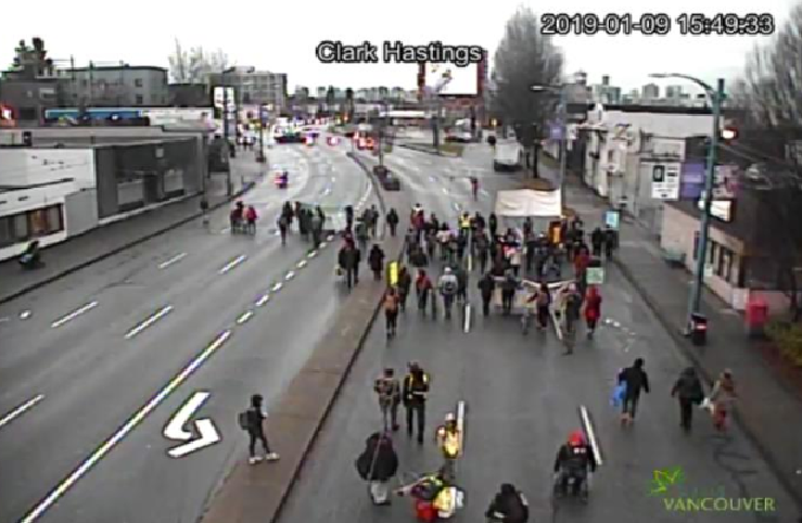 Protesters Block Vancouver Traffic In Solidarity Of Anti Lng Protesters News 1130