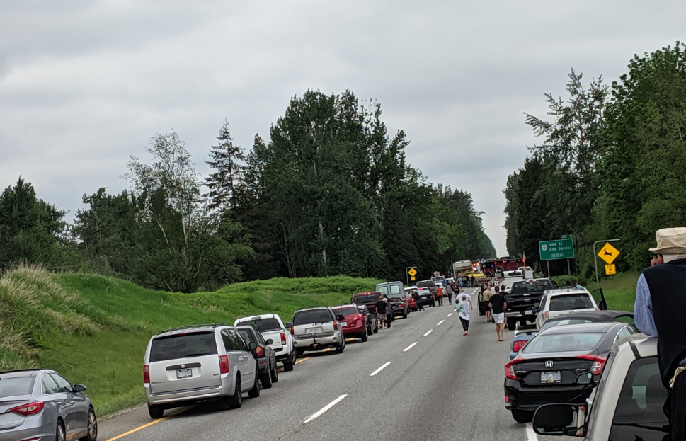 Highway 1 Westbound Re Opened After Langley Crash Sends Two To Hospital