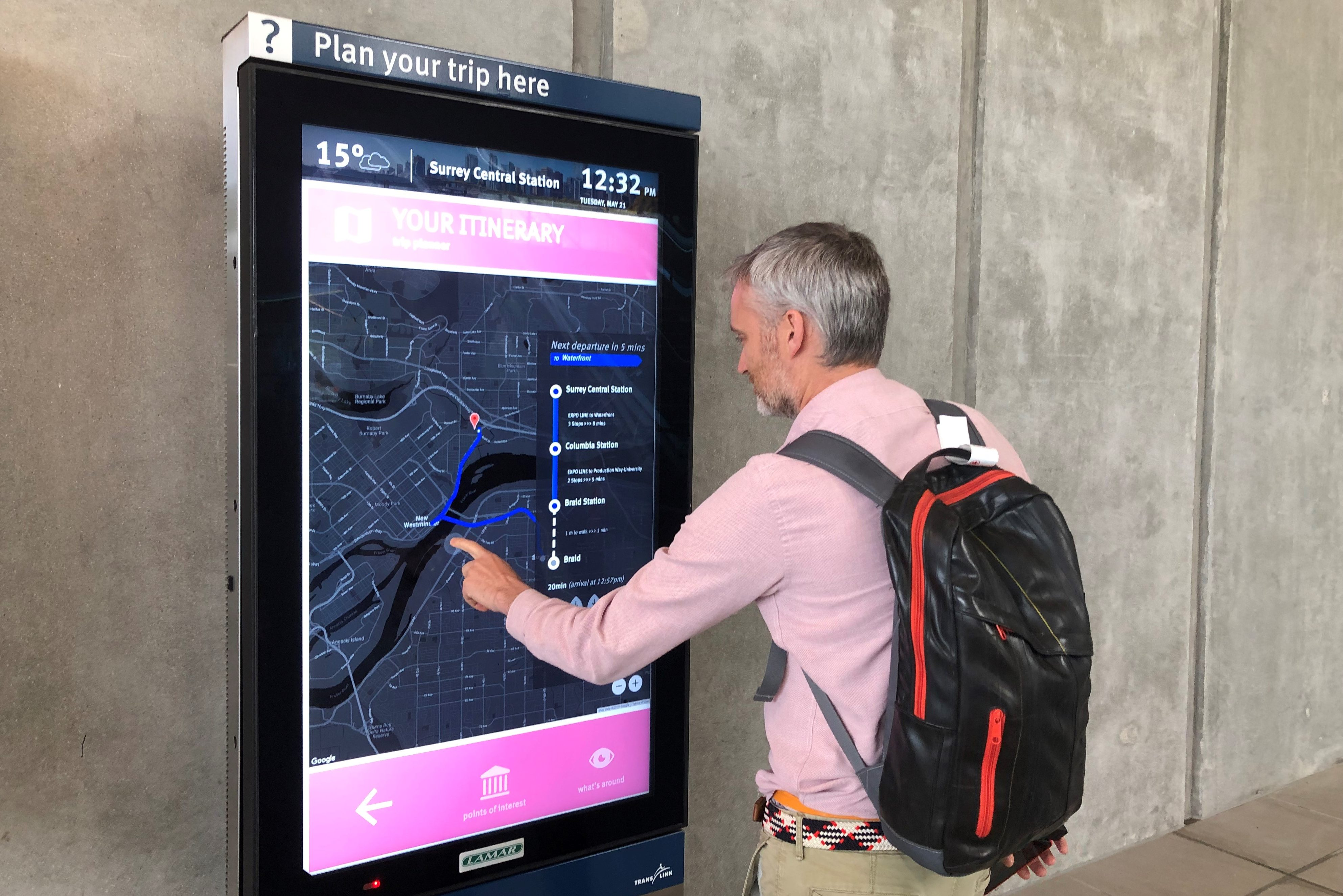 New TransLink touch-screens aim to help commuters with trip planning - NEWS  1130