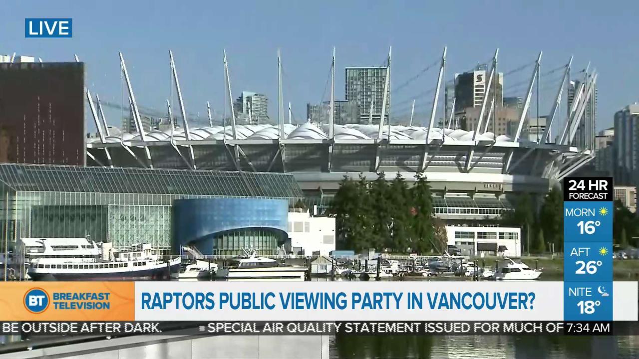Raptors public viewing party in Vancouver?