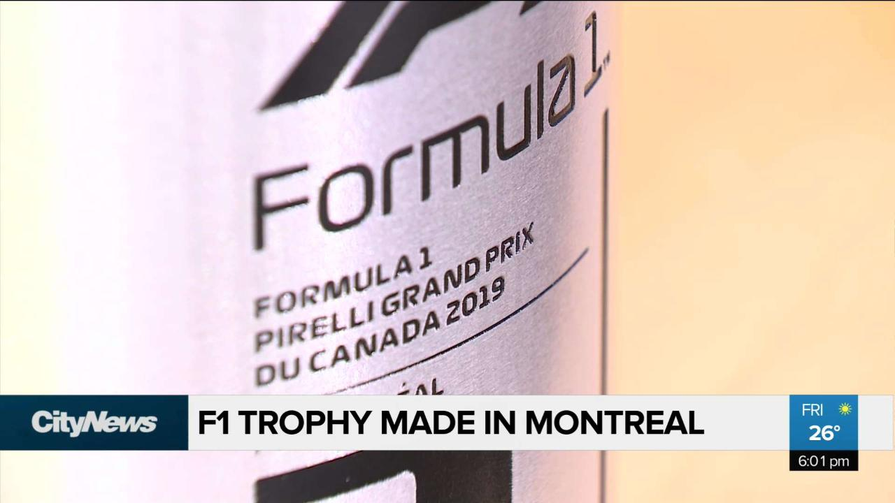 F1 trophy made in Montreal