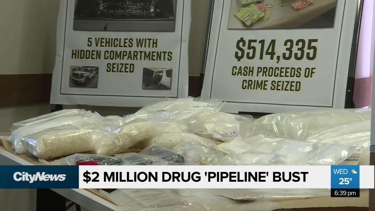Cutting off a drug 'pipeline': $2 million drug bust in