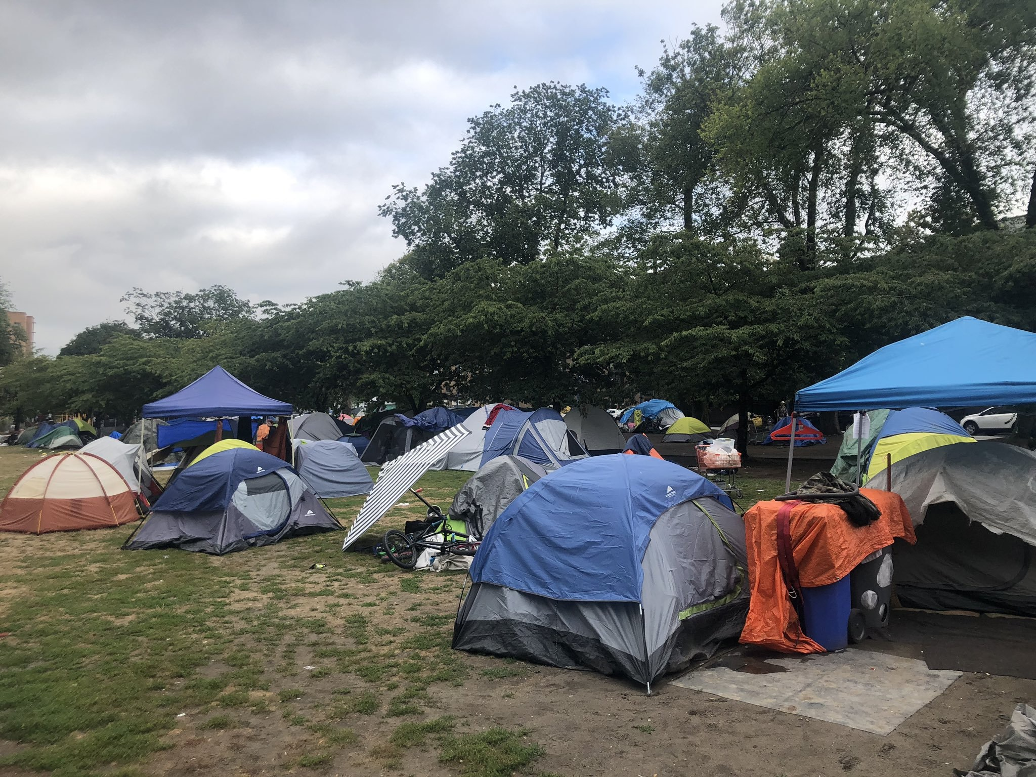 Tent city remains in Oppenheimer Park despite deadline to vacate