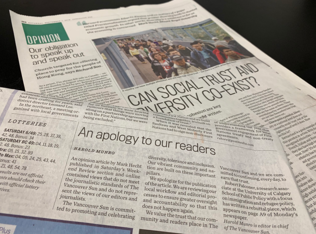 Media ethics instructor welcomes Vancouver Sun changes
