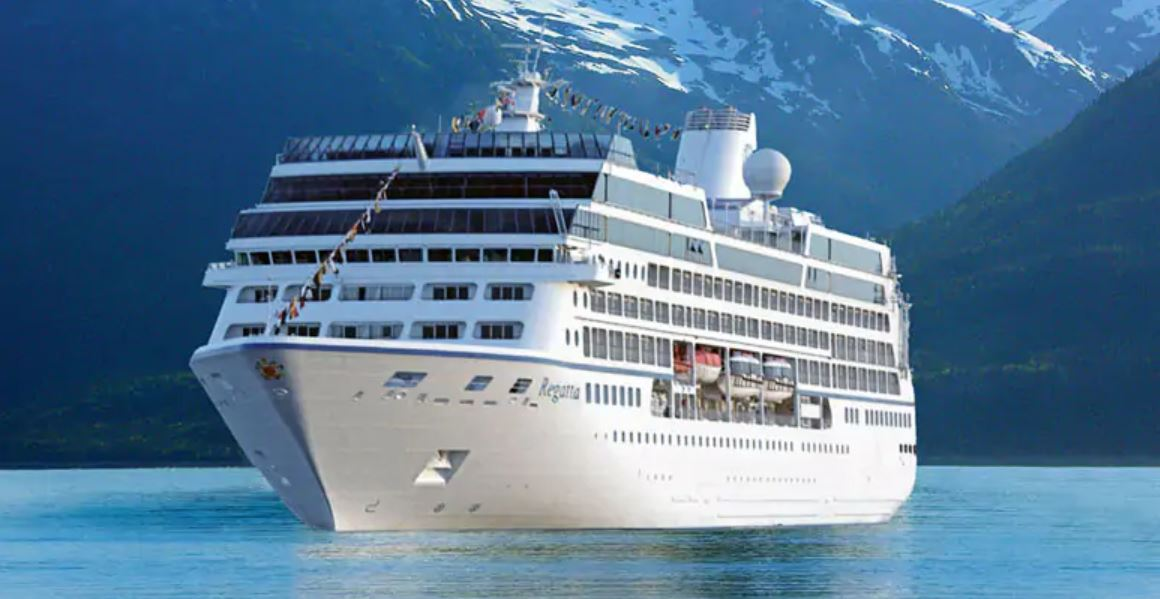 Massive cruise ship docked in North Van for major upgrades