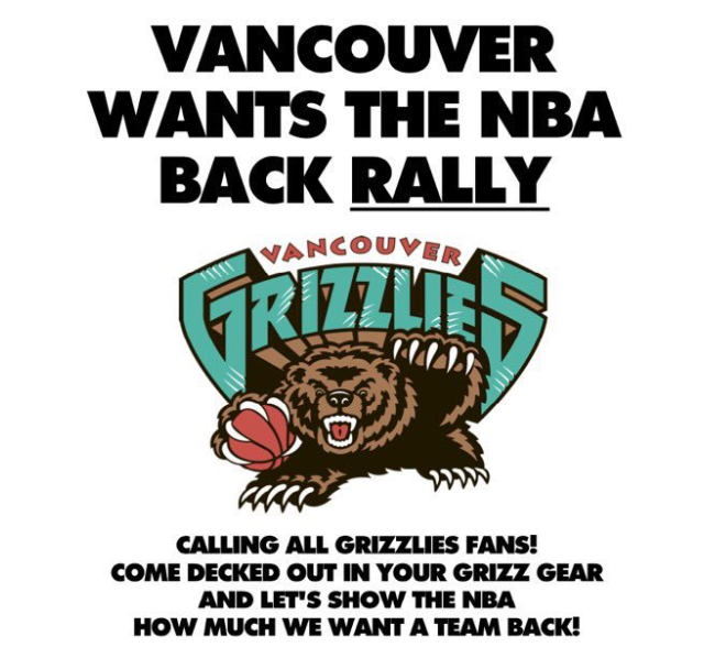 'We're just waiting for our second chance:' Vancouver Grizzles fans to rally for return of NBA